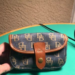 Dooney & Bourke Denim Monogrammed Pouch